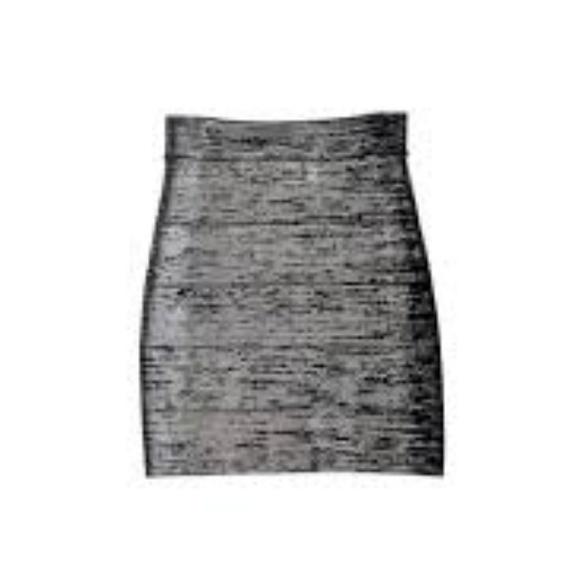 BCBG Dresses & Skirts - BCBG bandage skirt - silver